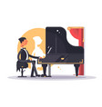 pianist man in luxury suit playing song vector image