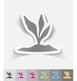 realistic design element root-crop vector image