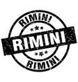 rimini black round grunge stamp vector image vector image