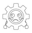 sad gear kawaii icon image vector image vector image