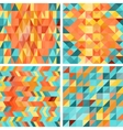Seamless colorfull geometric patterns in retro vector image vector image