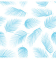 seamless pattern with color blue isolated palm lea vector image vector image
