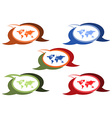 set of chat bubbles of different colors and shades vector image vector image