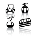 Set of transport icons - Recreation vector image