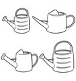 set of watering can vector image vector image