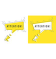 speaker and tag attention vector image vector image