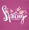 spring is coming template design with images of vector image