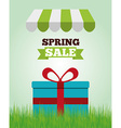 spring sale design vector image