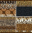 traditional african fabric and wild animal skin vector image vector image