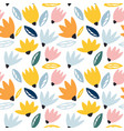 trendy seamless floral pattern perfect for vector image