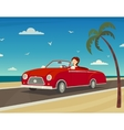 Trip To The Sea Background vector image vector image