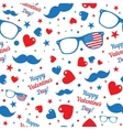 Valentines Day hipsters symbols with the American vector image vector image