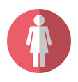 female figure isolated icon vector image