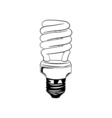 Energy saving light bulb glowing icon fluorescent vector image