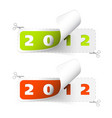 2011 2012 new year stickers vector image vector image
