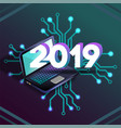 2019 it isometric laprop virtual relity vector image vector image