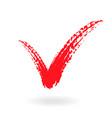 a check mark symbol in color vector image vector image