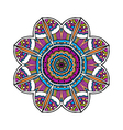 Acid color ethnic aztec tribal mandala pr vector image vector image