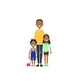 african father daughter son full length avatar on vector image vector image