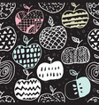 Apple doodle seamless pattern