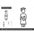 Bachelor degree line icon vector image vector image