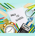 back to school background with supplies tool vector image