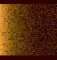 background with binary code vector image vector image