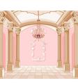 Ballroom of magic castle vector image