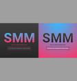 banner of social media marketing vector image