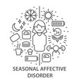 banners for seasonal affective disorder vector image vector image