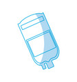 blood bag isolated vector image vector image