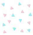 Blue Pink Triangle Abstract White Background vector image vector image