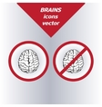 Brain icons on white background
