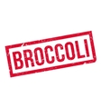 Broccoli rubber stamp vector image vector image