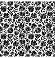brush flower seamless pattern vector image vector image