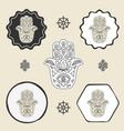buddhas hand buddhism icon flat web sign symbol vector image vector image