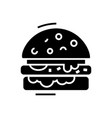 cheese burger line icon vector image vector image
