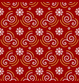 christmas pattern seamless trendy line golden vector image