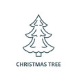 christmas tree line icon christmas tree vector image