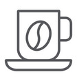 coffee mug line icon food and drink cup sign vector image vector image