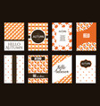 collection of autumn cards sale and other vector image vector image