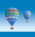 colorful design hot air balloons vector image