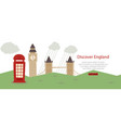 discover england banner web design vector image