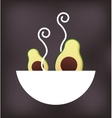 dish with vegetable menu vector image vector image