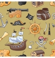 doodle pattern set pirates vector image vector image