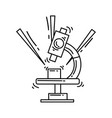 e-commerce research icon hand drawn icon set vector image vector image