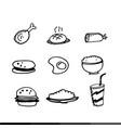 food draw icon design vector image