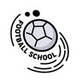 football school banner creative icon or badge vector image