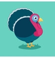 funny cartoon turkey vector image vector image