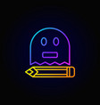 ghost writing colorful icon vector image